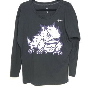 Nike TCU Horned Frogs Long Sleeve Spell Out